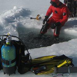 Buceo en hielo